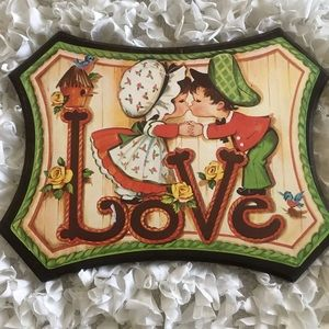 Vintage 70's LOVE Wall Hanging